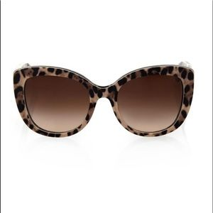 NEW DOLCE AND GABBANA LEOPARD CAT EYE SUNGLASSES